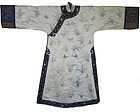 Antique Chinese Silk Robe with Dragon Sleeves