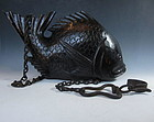 Antique Japanese Wooden Fish Jizai