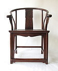 Antique Chinese Huanghuali Chair With Dragon Motif
