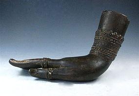 Antique Thai Hand Bronze Hand Of Buddha