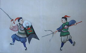 Antique Chinese Canton Painting