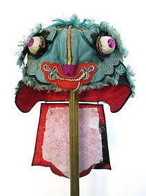 Antique Chinese Embroidered Silk Children's Hat