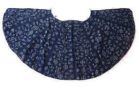 Antique Japanese Indigo Ikat Cotton Rain Coat