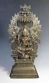 Indian Antique Bronze Figure of Durga