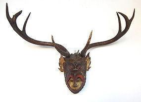 Antique Burmese Carved Garuda Head