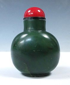 Antique Chinese Jade Snuff Bottle