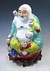 Chinese Porcelain Smiling Buddha/Budai Statue