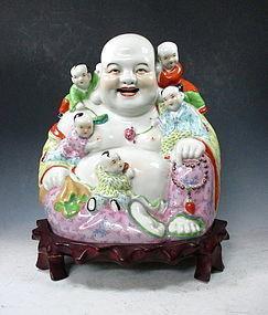 Chinese Porcelain Laughing Buddha/Budai Statue