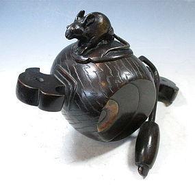 Japanese Bronze Daikoku  Mallet Incensor