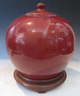 Chinese Oxblood Jar