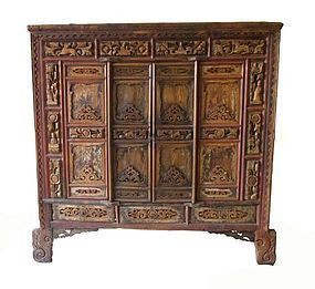 Antique Chinese Temple Cabinet