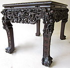 Antique South Chinese Hardwood Carved Table