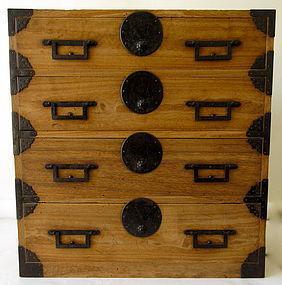 Stunning Original Antique Japanese Kiri Tansu  Late Edo Age