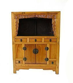 Small Antique Chinese Hardwood Chest