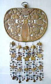 Antique Japanese Gilt Copper Buddhist Keman
