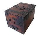 Antique Japanese Keyaki Caligraphy Box