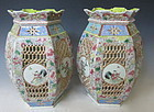 Chinese Antique Pair of Porcelain Lamps Covers