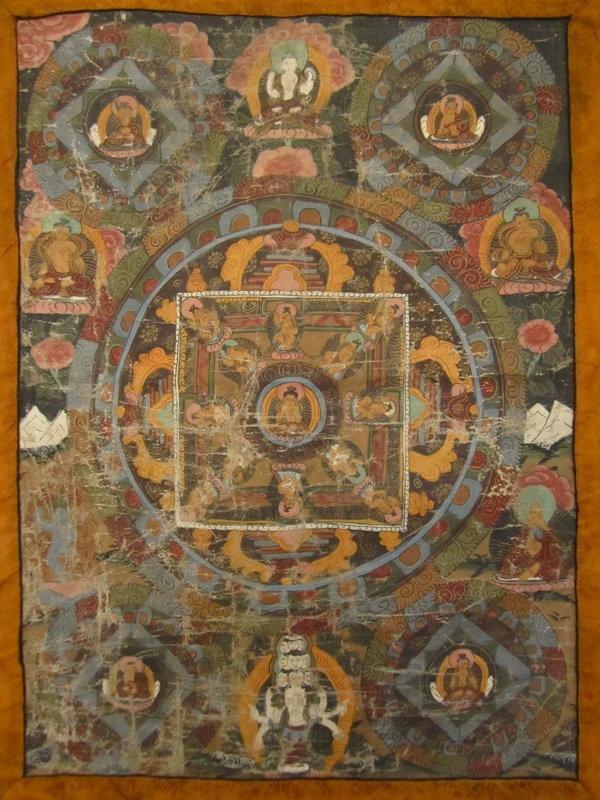 Tibetan Antique Mandala Thangka Painting