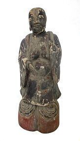 Chinese Ming Religious Wooden Carving