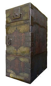 Antique Japanese 3-Section Gyosho Bako Tansu