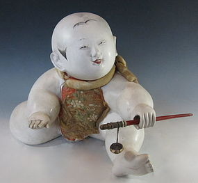 Japanese Antique Gosho-Ningyo Doll with Toy