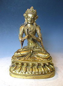Antique Sino Tibetan Bronze Statue of Tara