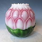 Vintage Chinese Peking Glass Lotus Flower