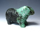 Vintage Chinese Carved Jade Sheep