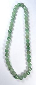 Chinese Large Jadeite Bead Necklace