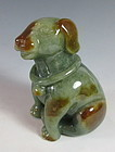 Chinese Jadeite Carving of a Dog