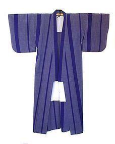 Japanese Taisho Purple Woven Kimono