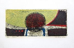 Original Japanese Color Woodblock Print by Masao Ohba