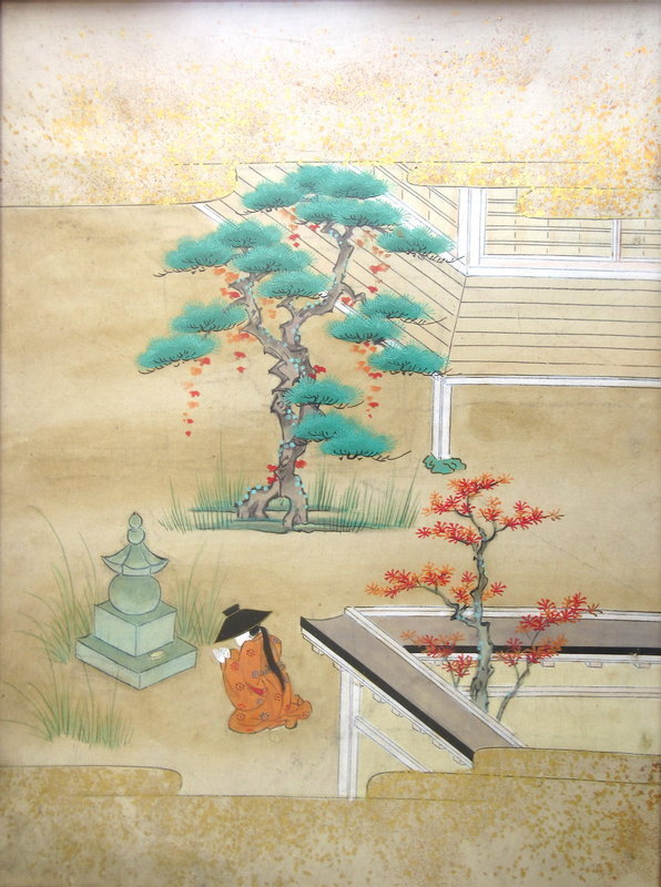 Antique Japanese Original Painting of Hachikatsugi Hime