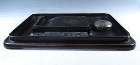 Chinese Zitan Wood Calligraphy Box