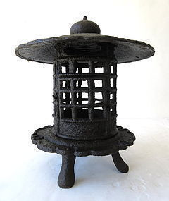 Antique Japanese Iron Lantern