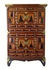 Korean Stacked Kitchen Chest with Butterflies and Bats