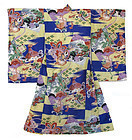 Japanese Child's Kimono with Birds
