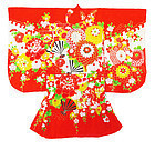 Japanese Child's Kimono with Flowers