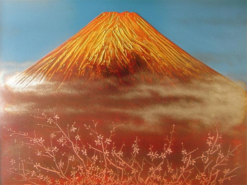 Japanese Urushi-e Painting by Hakuo Iriyama