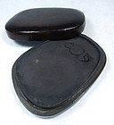 Chinese Inkstone with Hardwood Box