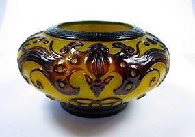 Antique Chinese Peking Glass Brush Washer