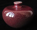 Antique Chinese Dark Cranberry Monochrome Vase