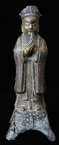 Chinese Ming Dynasty Bronze Daoist Figure