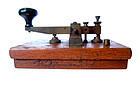 Antique Japanese Morse Code sender with Base