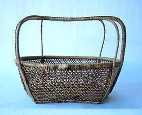 Antique Thai Woven Basket