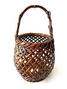 Antique Japanese Bamboo Basket