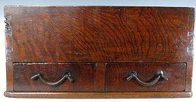 Antique Japanese Keyaki Storage Box