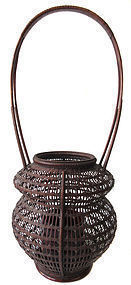 Antique Japanese Ikebana Basket