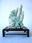 Chinese Jadeite Bamboo and Tree Carving