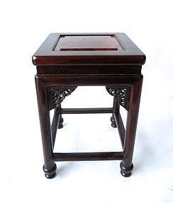 Antique Chinese Hardwood with Burl Stool